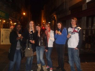 Eating ice-cream in the cold weather at night is allowed!