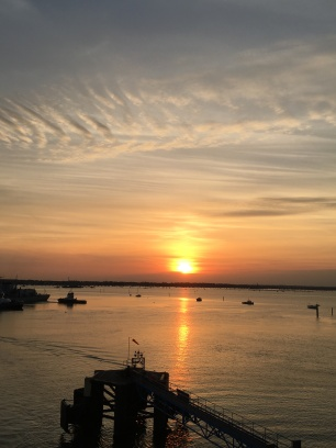 Sunset at Portsmouth harbour